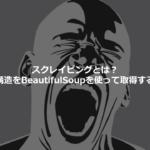 スクレイピングとは?HTML構造をBeautifulSoupを使って取得するには?基礎の基礎編!
